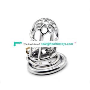 Penis Male Chastity Device Cock Cage metal Chastity Belt Penis Cage Sex Toy chastity device cock cage with anti-off ring for men