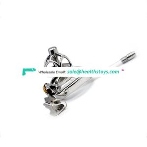 Plum Curved ring Metal chastity cage cock penis bondage locks sex toys male chastity cock cage for Adult Games men Urethral tube