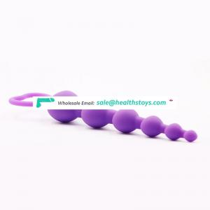 Realistic medical silicone Sex Toy Ball beaded silicone probe