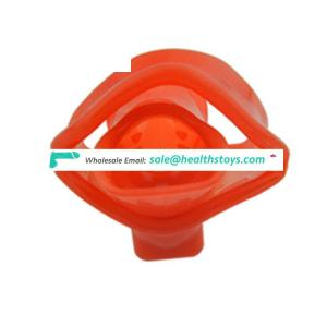 Soft Medical Silicone Male Chastity Device Penis Ring Cock Cage Man Sex Toy