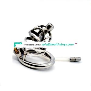 Stainless Steel Bird Cock Cage Lock Adult Game Metal Male Chastity Belt Device Penis Ring Sex Toys metal chastity men For Men