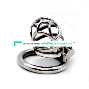 Stainless Steel Chastity Device Bird Metal Cage Cock Lock Restraint Ring Sex Toy male cock cage adult sex toy catheter for Men