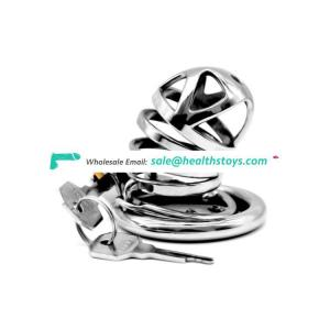 Stainless Steel Cock Cage Metal Chastity Belt Penis Ring Sex Toys Cock Lock Bondage Adult Products cock chastity cage for men