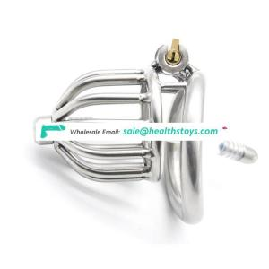 Stealth Lock Chastity Cage Stainless Steel Male Penis Device Sex Toys For Men