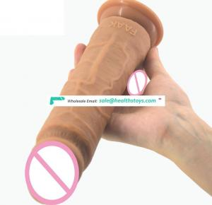 "Top Selling 8.4 "" Double Layered Liquid Silicone Dildo Real For Man And Women, Elastic Silicone Dildo Artificial Penis Realistic"