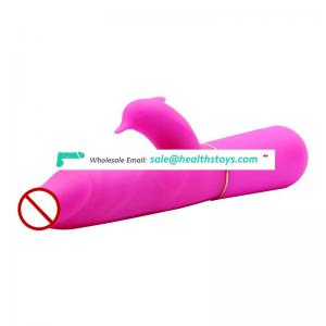 Water Proof Soft Silicone Rotational Vibrator Penis Vibrator Dildo Vibrator Adult Sex Products