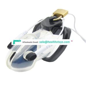 Wholesale Male Polycarbonate Locking Breast Electric Chastity Cage Device