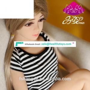 Wholesale young girl 18 japanese loli 110cm silicone real small breast sex doll with oral for masturbation men