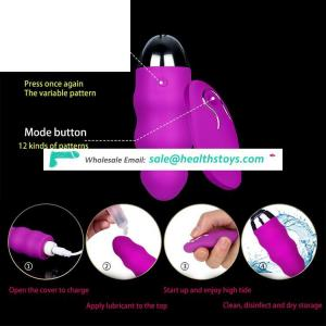 Wireless Control USB Rechargeable Vibrators Waterproof Sex Toy for Women