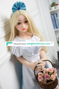 Yinyin-100cm Lifelike Beautiful Artificial Hairy Vagina Breasts Full Real Silicone Blonde sex doll for men